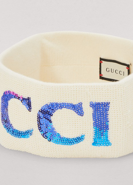 Gucci Sequined headband and wrist cuffs