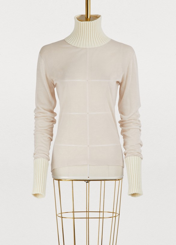 Maison MargielaWool transparent sweater