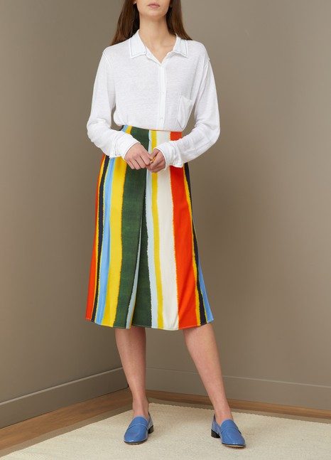 9ede6b36db042 Tory Burch Fiona striped skirt