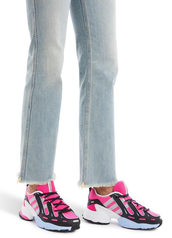 Adidas Originals Gazelle Femme Baskets rose en mailles