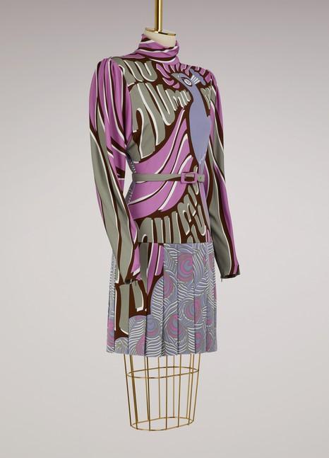 Miu MiuPeacock-Print Short Dress