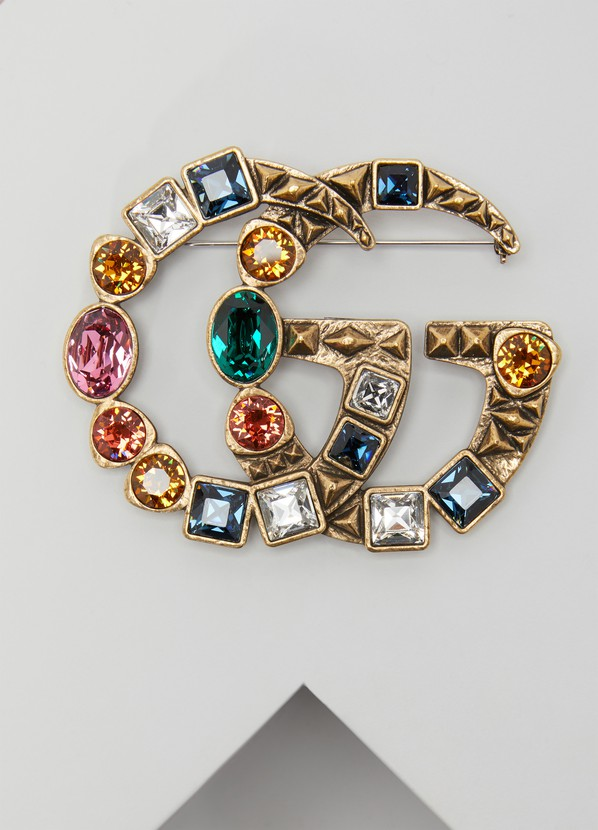 c0a1ae60e Women's GG crystal brooch   Gucci   24S   24S