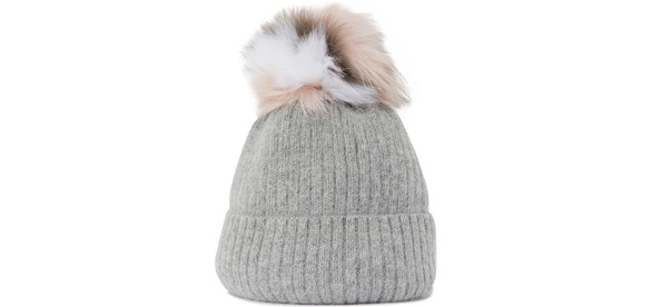 YVES SALOMON Woolly hat with fur