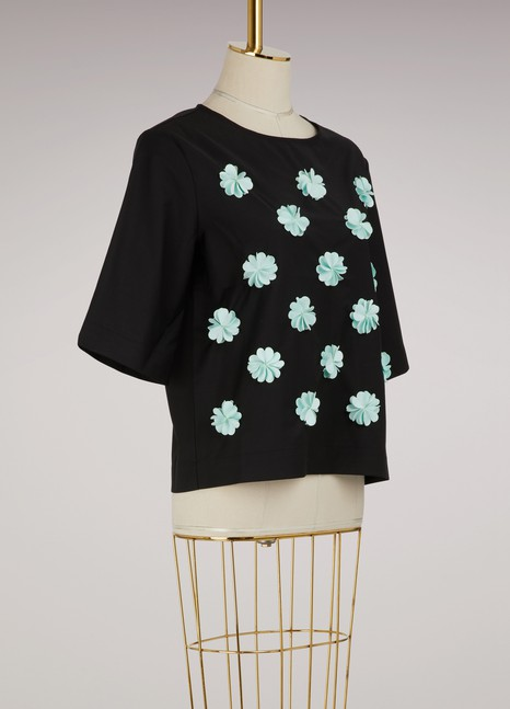 PASKALT-shirt fleurs en laine