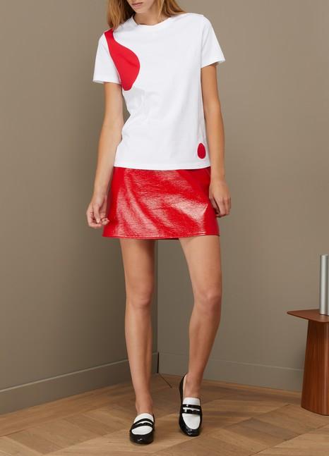 CourrègesT-shirt en coton motif Lave