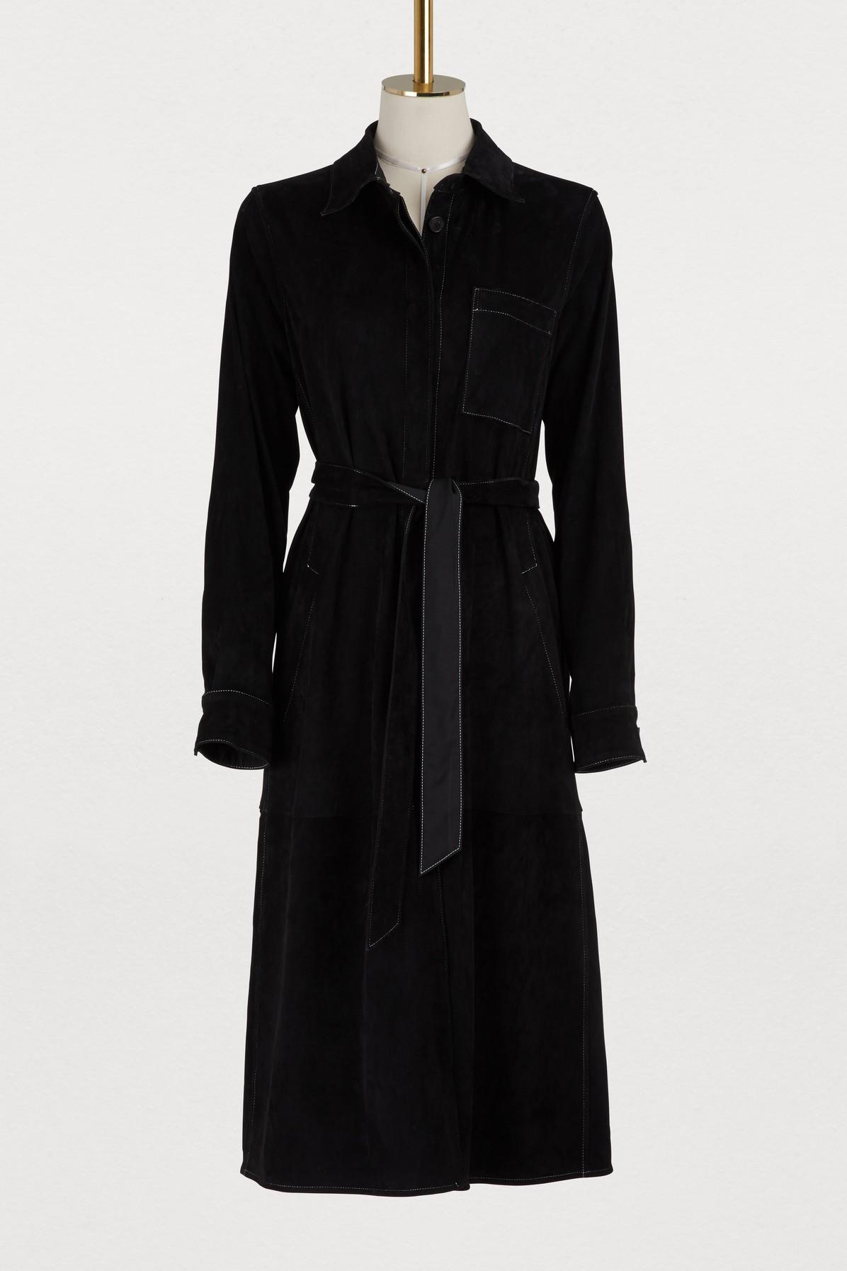 Robe avec ceinture en cuir