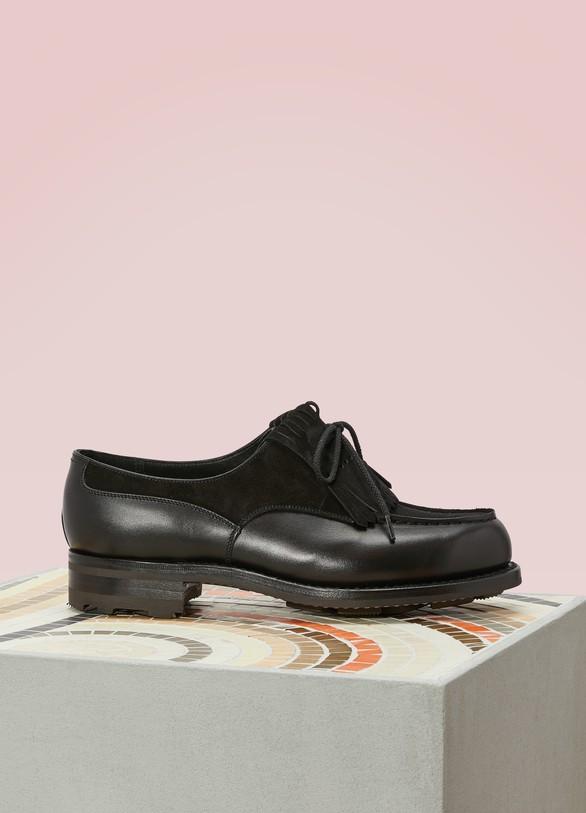 J.M. Weston Box Leather Loafers fBoqEGJngb