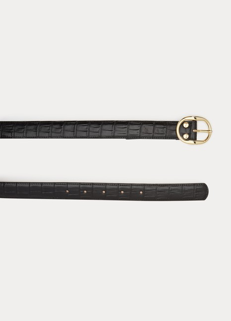 A.P.C.Mona crocodile effect belt