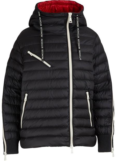 Moncler Stockholm Zip-Sleeve Puffer Jacket In Black