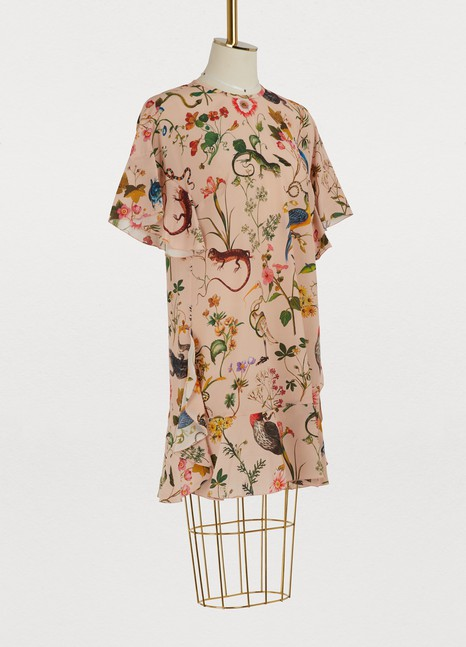 Red Valentino Flora fauna printed short dress