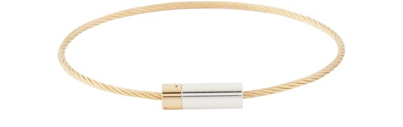 LE GRAMME Cable bracelet 9g Gold and Silver poli