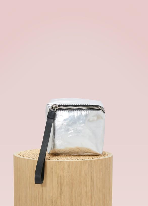 Sac mini cube zippé métallisé bYwLXJDNa