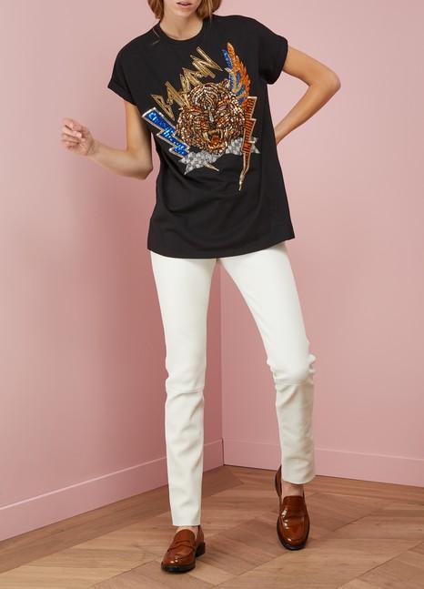BalmainEmbroidered Cotton T-Shirt