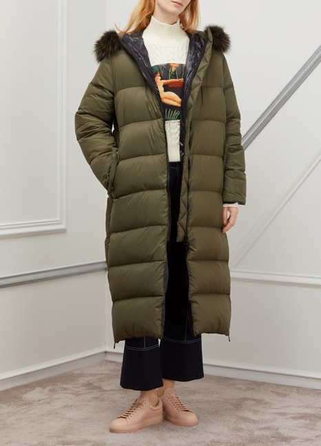 Yves Salomon - ArmyLong puffer coat with fur collar