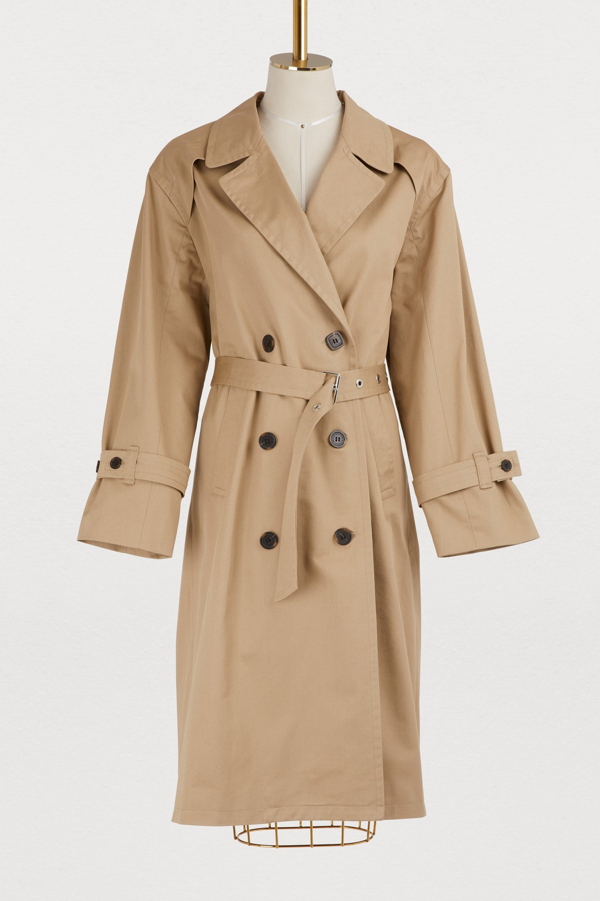 MAISON KITSUNE | Helena cotton trench coat | Goxip