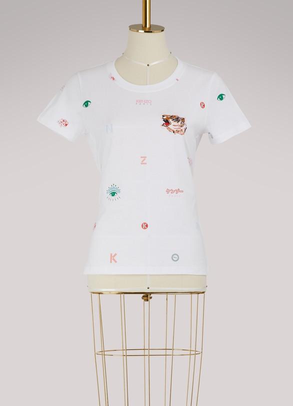 KENZOT-shirt multi icon en coton
