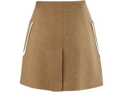 FENDIWool and silk skirt