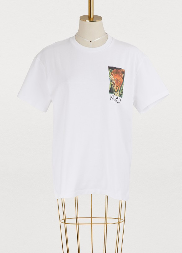 Kenzo Cotton jungle printed T-shirt