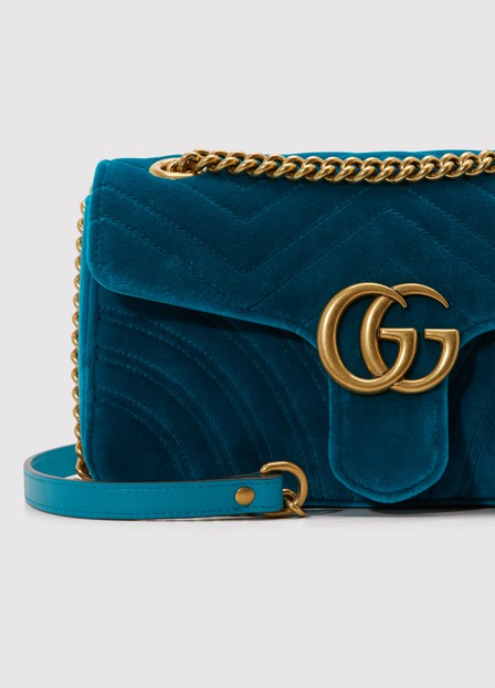 GUCCI GG Marmont velvet shoulder bag,443497 K4D2T 4462