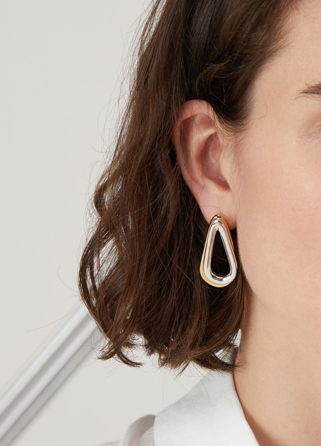 Annelise Michelson Ellipse two-toned double earrings