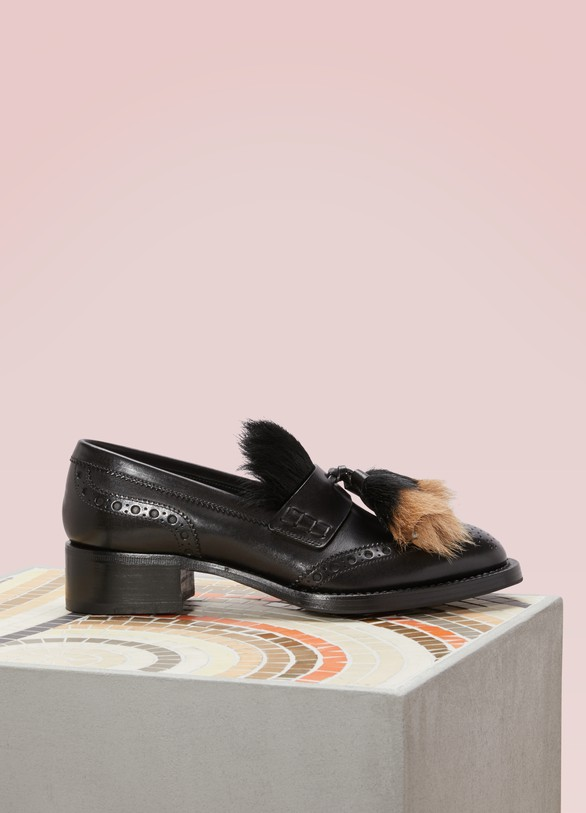 Prada Pony fur loafers
