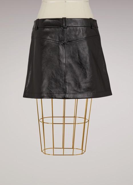 ChloéShort leather skirt