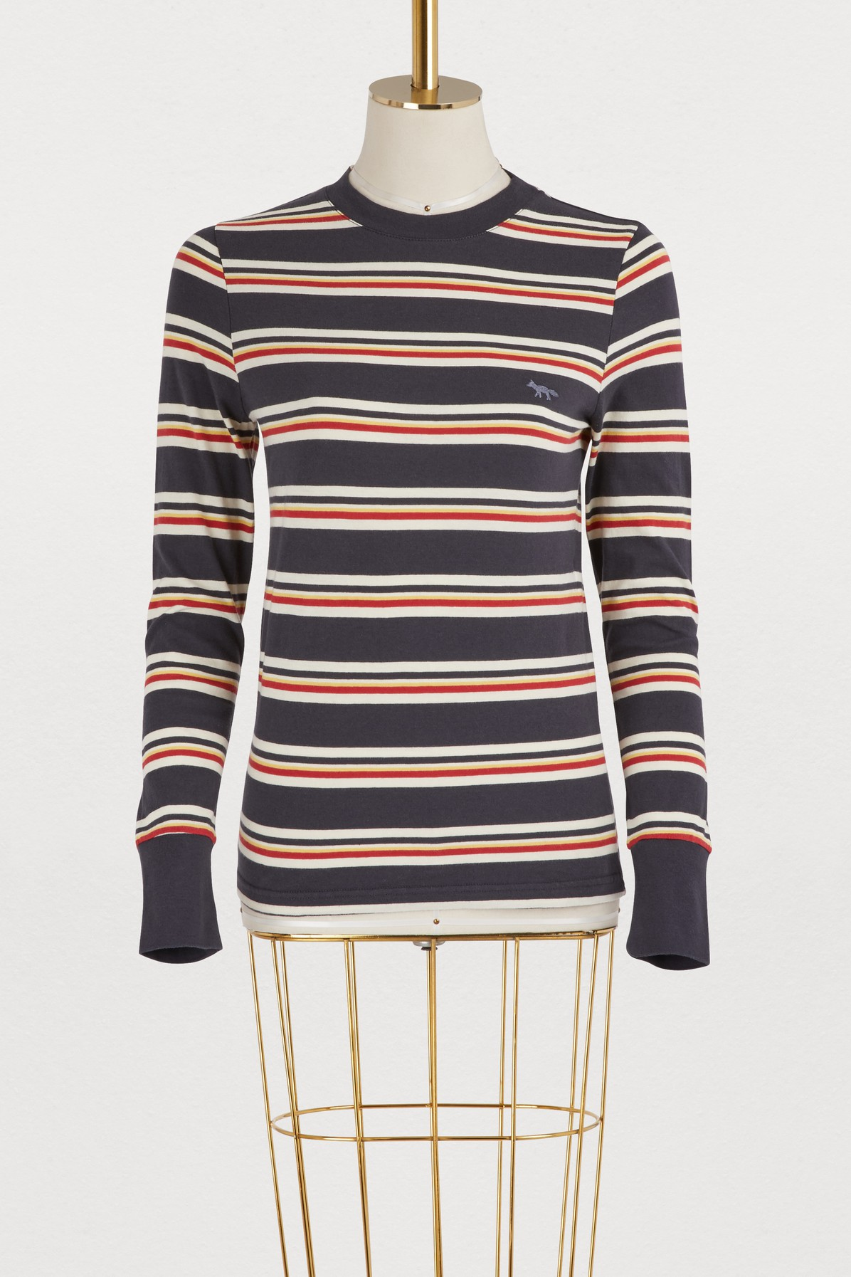 MAISON KITSUNE | Striped long sleeve T-shirt | Goxip