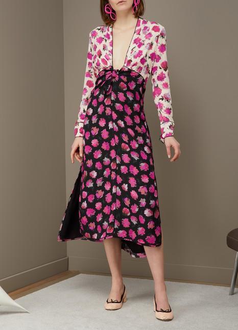 Proenza SchoulerSilk printed long dress