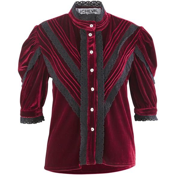 A CHEVAL PAMPAYegua velvet shirt