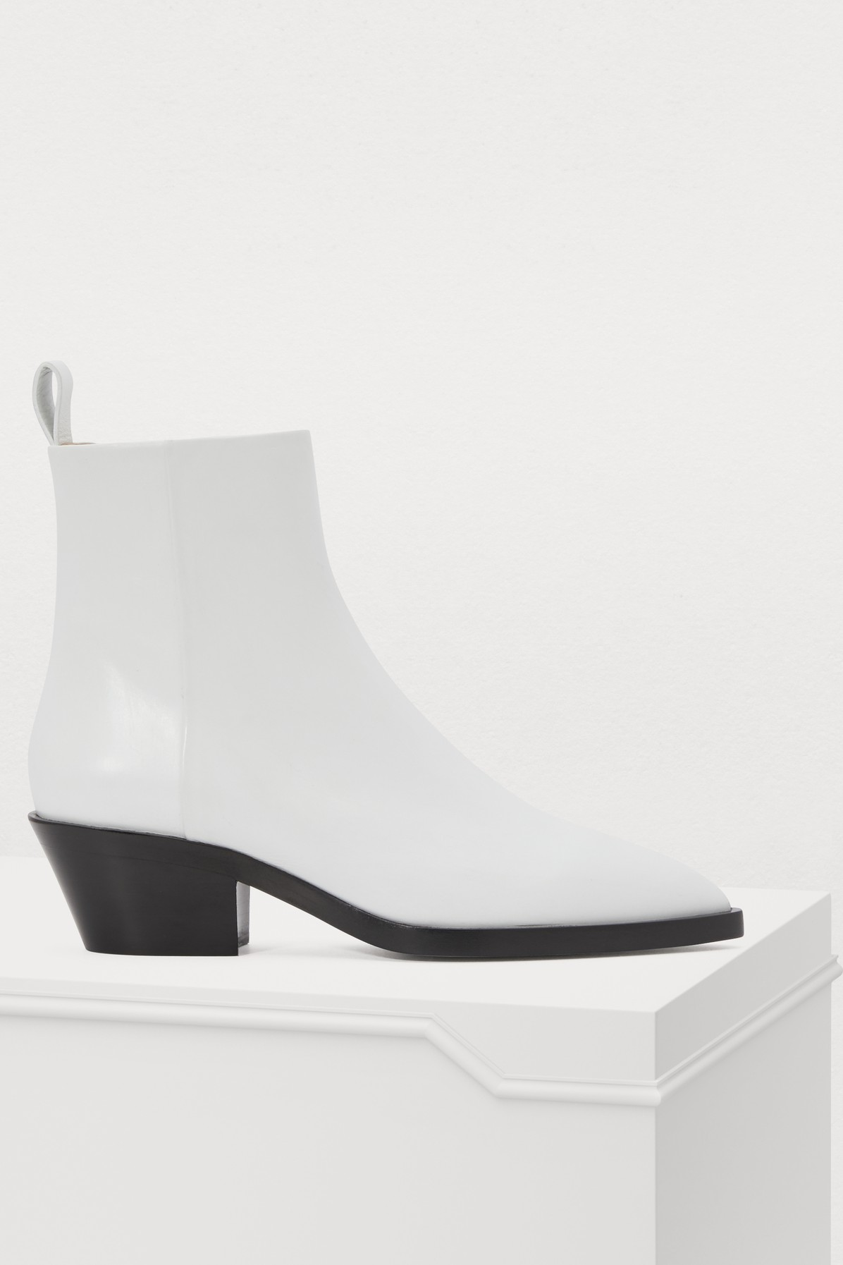 Leather Ankle Boots in White from Jil Sander