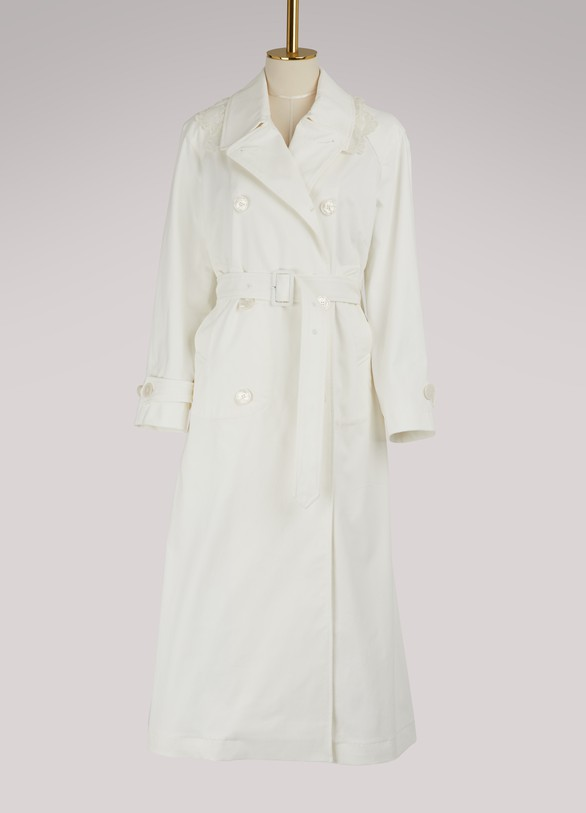 Simone Rocha Lace detail trench coat