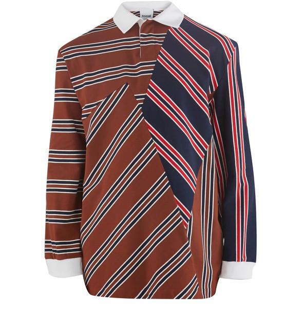 KOCHÉStriped polo shirt