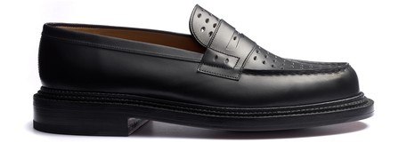 Jm Weston 180 Perforated Loafer In Black