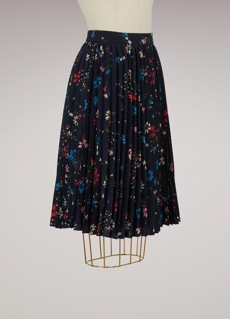 BalenciagaJupe plissée Fleur de nuit