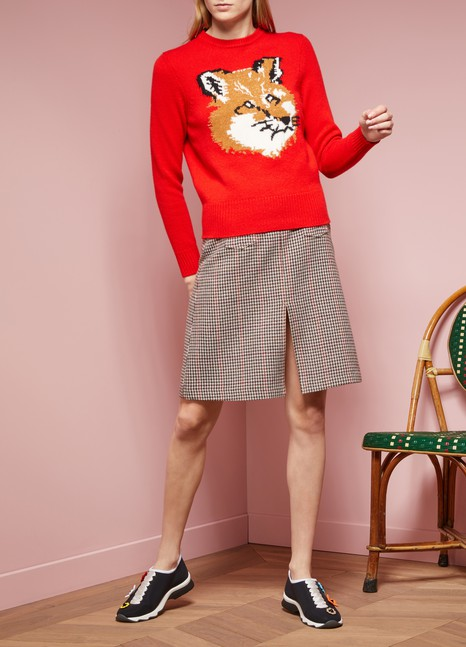 Maison Kitsuné Wool fox head sweater