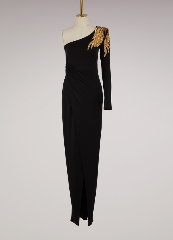 Balmain Asymmetrical maxi dress