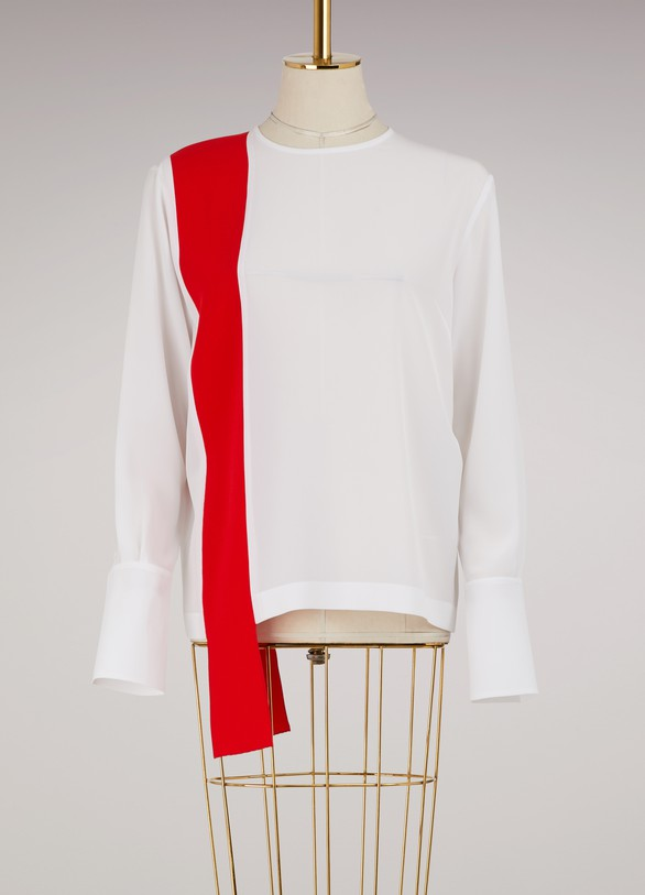 Purchase Cheapest Clare silk top Stella McCartney Recommend Shop For Buy Cheap Low Price ZioFY8S0