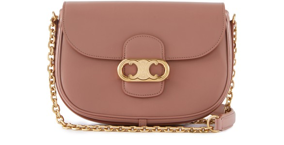 CELINEMedium Triomphe bag with chain in calfskin