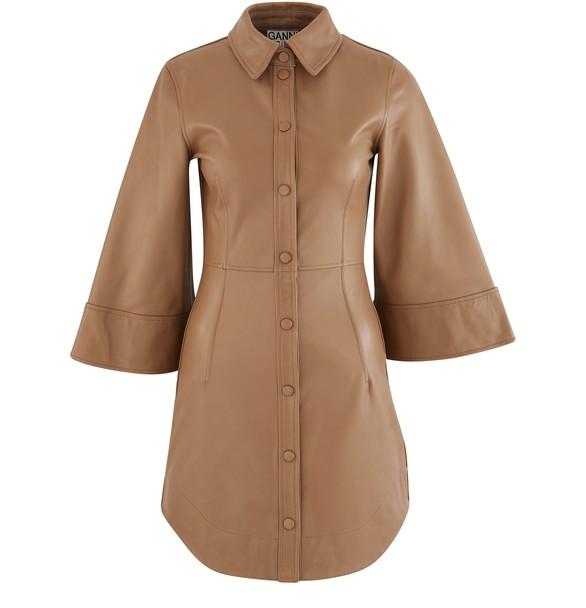 GANNIRobe chemise en cuir