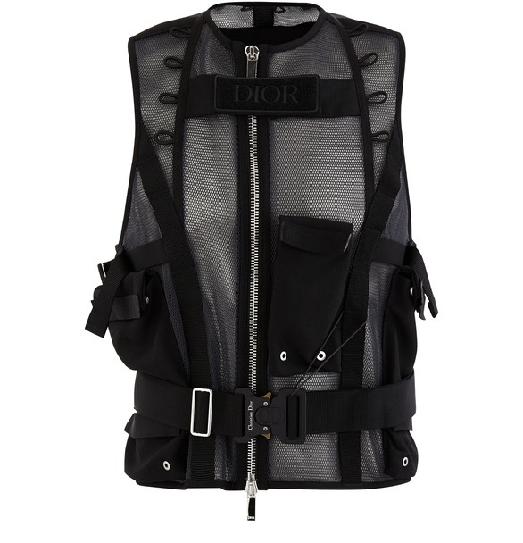 "Technical Mesh Vest ""Cd"" Buckle by Dior"