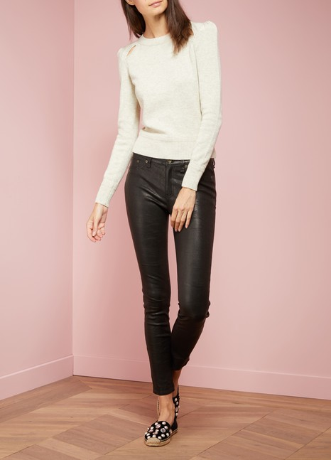 Rag & BoneJean skinny en cuir d'agneau
