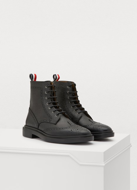 THOM BROWNELeather ankle boots