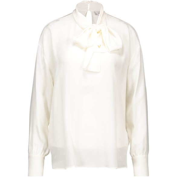 VALENTINO Shirt with tie collar