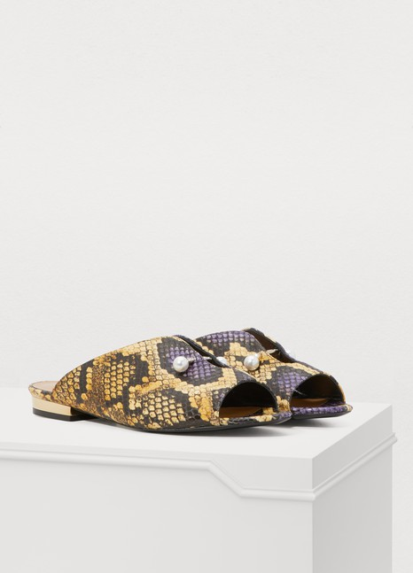 COLIACLucilla snake-printed mules