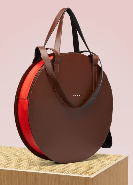 Marni Tambourine Leather Shopping Bag