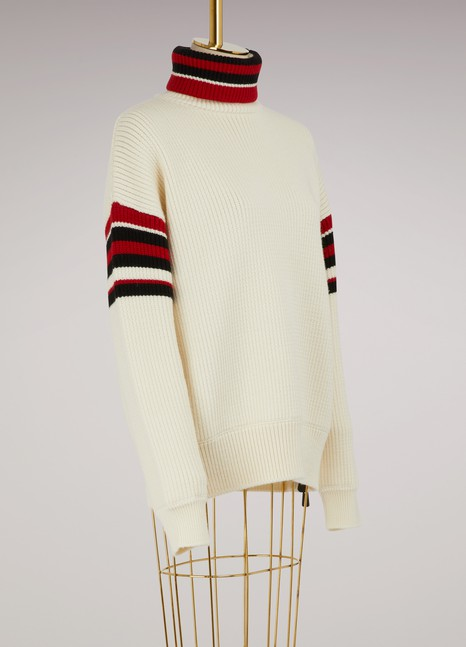 MONCLER GRENOBLE Striped wool sweater