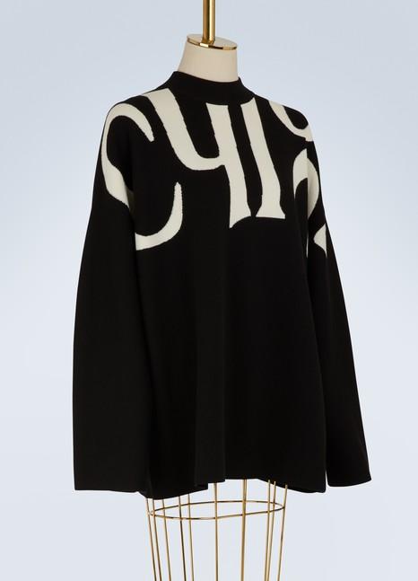 ChloéPull à logo en laine