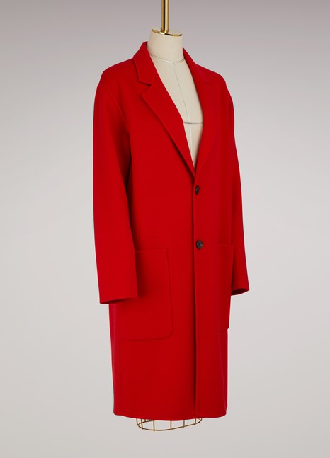 AmiCashmere and wool oversize coat