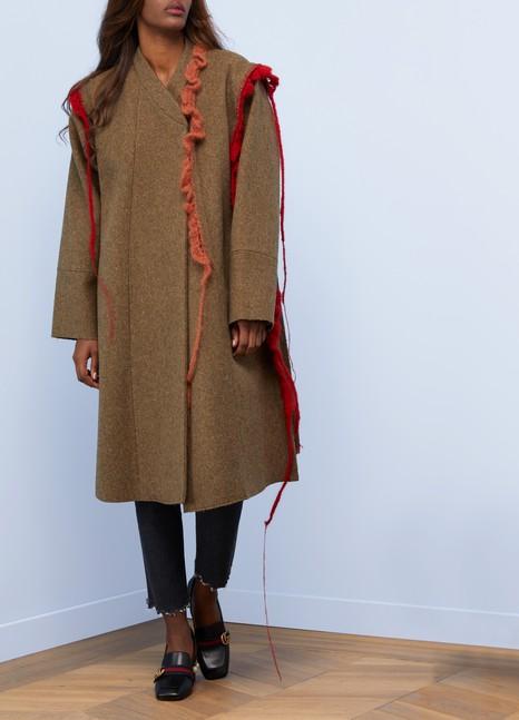 Maison MargielaWool coat with crochet details