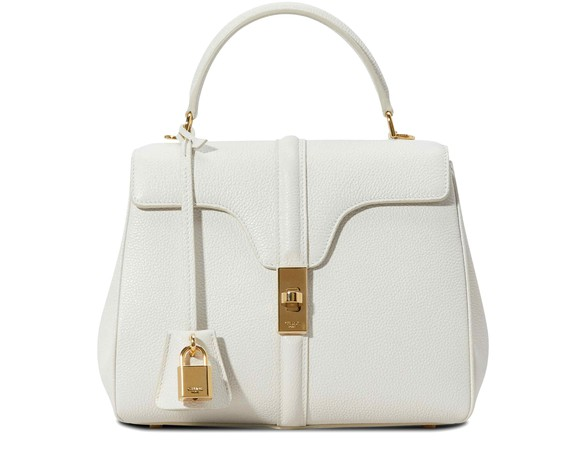 CELINE 16 small model bag in grained calfskin leather